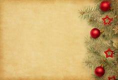 Z Boże Narodzenie granicą papierowy beżu tło zdjęcia royalty free
