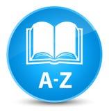 A-Z (boekpictogram) elegante cyaan blauwe ronde knoop Royalty-vrije Stock Fotografie