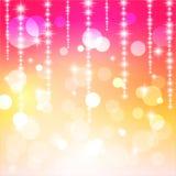 Z bokeh kolorowy abstrakcjonistyczny tło. Zdjęcie Royalty Free