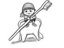 Zębu gnom Zdjęcia Royalty Free