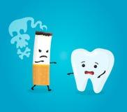Zębu i papierosu charaktery Zdjęcie Royalty Free