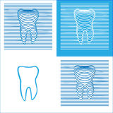 Zębu Stomatology 3D Plakatowa ikona Obrazy Stock