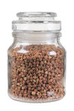 Z buck-wheat zamknięty szklany słój Zdjęcie Stock