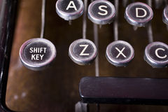 Z button. Old fashioned typewriter keys in a close up shot, highlighting the Z button. I also have a similar shot highlighting the 'A button' and called just Stock Photo