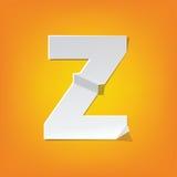 Z capital letter fold english alphabet New design Royalty Free Stock Photo