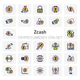 Z cash Crypto Currency icons set. For web design and application interface, also useful for infographics. Vector illustration Royalty Free Stock Photo