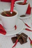 Z chili gorąca czekolada Obrazy Stock