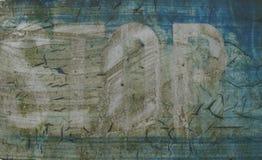 Z chowaną chrzcielnicą grunge przetarty błękitny tło Fotografia Royalty Free