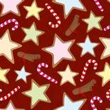 Z ciastkami bezszwowy wzór Zdjęcia Royalty Free