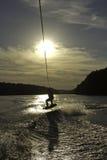 Z cieniem Wakeboard Skok Zdjęcie Royalty Free
