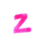 Z - Color letters isolated over the white background. Stock Photos