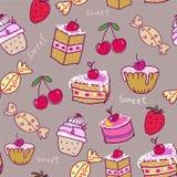 Z cukierkami bezszwowy wzór. Obraz Royalty Free