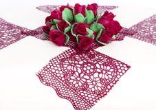 Z cukrowymi różami tortowy szczegół Fotografia Stock