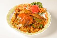 Z curry'ego proszkiem smażący krab Zdjęcie Stock