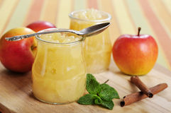 Z cynamonem jabłczany dżem Obraz Royalty Free
