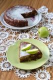 Z cynamonem jabłczany kulebiak Fotografia Stock