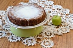 Z cynamonem jabłczany kulebiak Zdjęcia Royalty Free