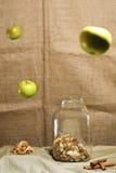 Z cynamonem wysuszeni jabłka Zdjęcie Royalty Free