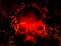 zła czaszka Fotografia Royalty Free
