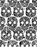 Z czaszkami bezszwowy wzór Obrazy Stock