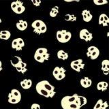 Z czaszkami Halloween bezszwowy wzór Ilustracja, odizolowywająca na czarnym tle ilustracja wektor