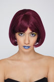 Z czerwonym włosy piękna azjatykcia kobieta Fotografia Royalty Free