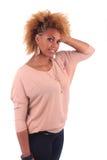 Z długim piękna Afrykańska kobieta haircurly Fotografia Stock