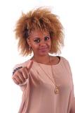 Z długim piękna Afrykańska kobieta haircurly Zdjęcia Royalty Free
