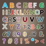 A-z d'alphabet de modèle Photographie stock libre de droits