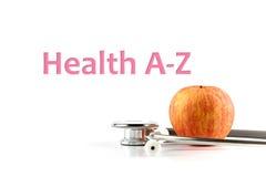 A-Z da saúde, saúde conceptual Fotografia de Stock