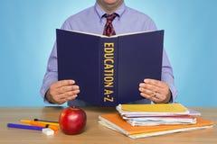A-Z de la educación Imagen de archivo