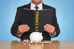 A-Z de las finanzas Imágenes de archivo libres de regalías