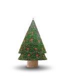 Z dekoracją bożenarodzeniowy jedlinowy drzewo Obrazy Stock