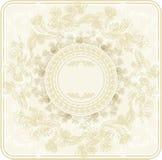 Z dekoracyjnymi kwiatami rocznika szablon, ręka bębeny Obraz Stock