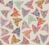 Z dekoracyjnymi liść bezszwowy wzór Zdjęcie Royalty Free