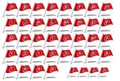 A-Z della fonte di alfabeto della bandiera Immagine Stock Libera da Diritti