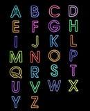 a-z della luce laser delle fonti tipografiche di alfabeto Fotografia Stock Libera da Diritti
