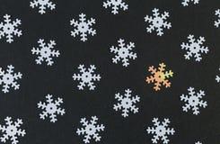 Z deseniowego pojęcia z płatkami śniegu Zdjęcia Stock