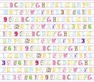 A-Z di alfabeto Fotografia Stock Libera da Diritti