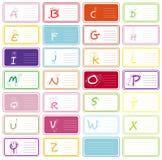 A-Z di alfabeto Fotografie Stock