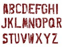 A-Z do alfabeto de Grunge Fotografia de Stock