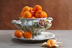 Z dojrzałymi tangerines wciąż życie Zdjęcia Stock