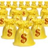 Z Dolara Znakiem pieniądze torby fotografia royalty free