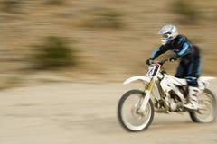 Z Drogowego rowerzysty Jedzie Motorowego rower Fotografia Stock