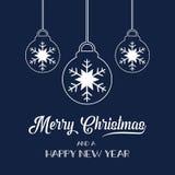 Z drzewnymi piłkami Święty Mikołaj kapelusz royalty ilustracja