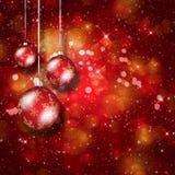 Z drzewnymi piłkami Święty Mikołaj kapelusz Zdjęcia Royalty Free