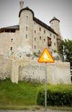 Z duchem grodowy i drogowy Bobolice znak Zdjęcie Royalty Free