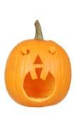 Z dwa zębami halloweenowa bania Zdjęcia Royalty Free