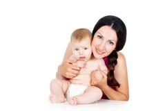 Z dzieckiem szczęśliwa matka Obrazy Royalty Free