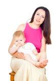 Z dzieckiem szczęśliwa matka Fotografia Royalty Free